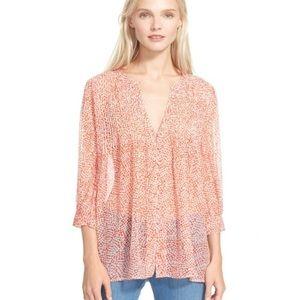 Joie 'Laurel' printed silk chiffon blouse size XS